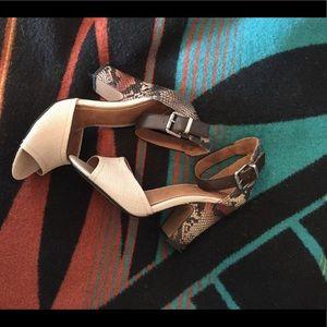High heel ankle strap sandals